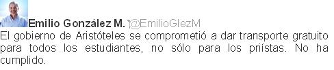 twit Emilio González Márquez