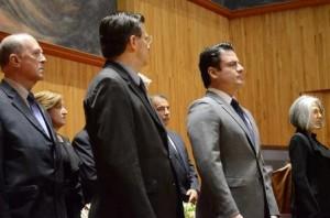 Guardia de honor Rector UdeG y Gobernador de Jalisco